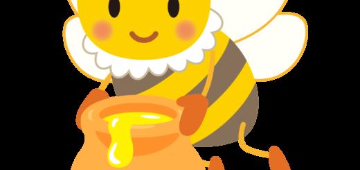 商用フリー・無料イラスト_みつばち(蜂)_はちみつ_Honeybee018