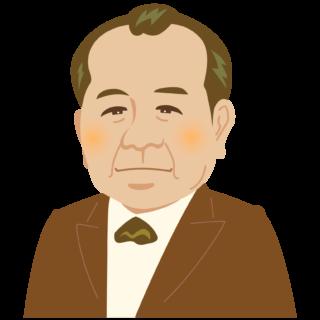 商用フリー・無料イラスト_渋沢栄一_セピア_Eiichi Shibusawa02