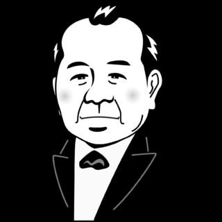商用フリー・無料イラスト_渋沢栄一_モノクロ_Eiichi Shibusawa03