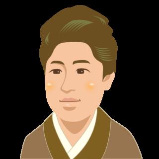商用フリー・無料イラスト_津田梅子_セピア_Umeko Tsuda02