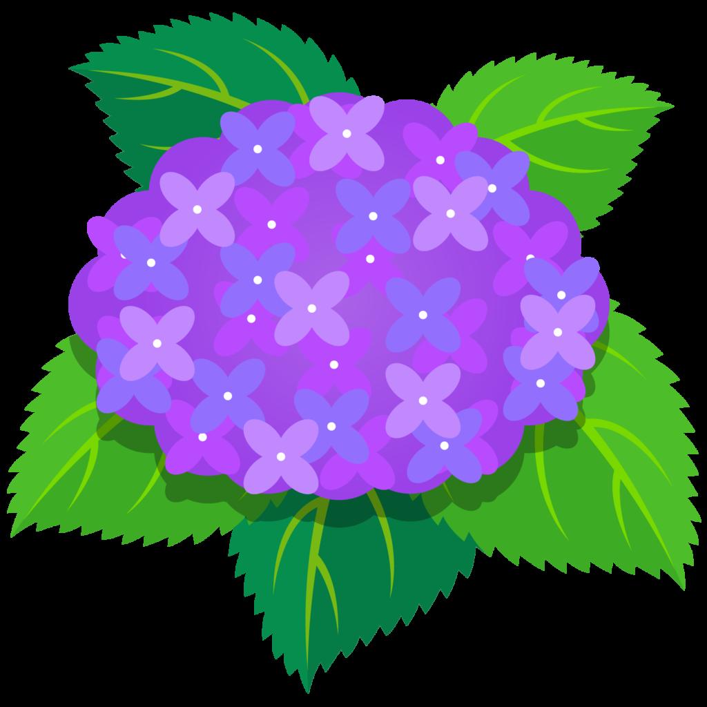商用フリー・無料イラスト_あじさいの花(紫陽花)紫_ajisai01