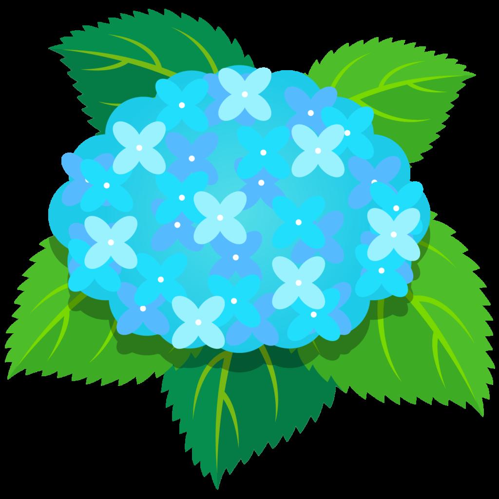 商用フリー・無料イラスト_あじさいの花(紫陽花)水色_ajisai03
