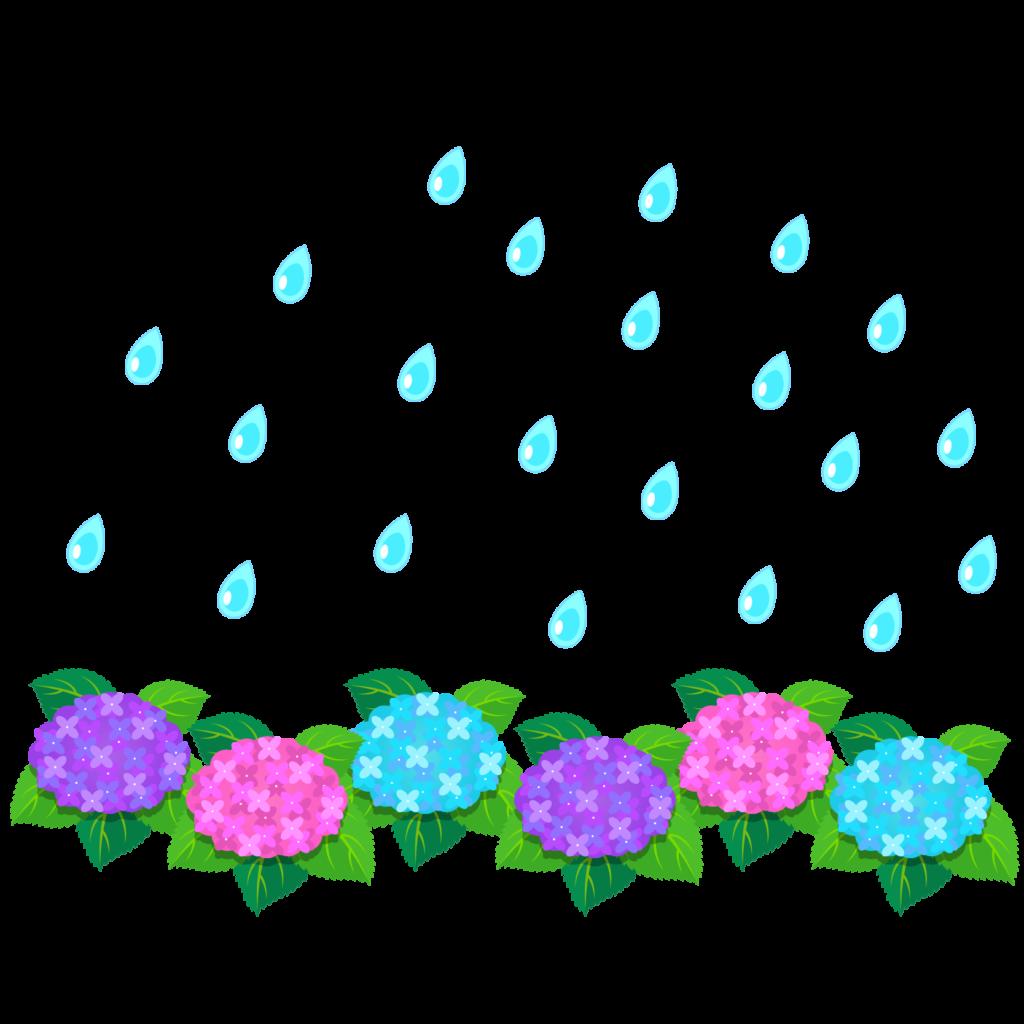 商用フリー・無料イラスト_あじさいの花(紫陽花)紫・ピンク・水色_ajisai15