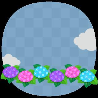 商用フリー・無料イラスト_あじさいの花(紫陽花)紫・ピンク・水色_ajisai16