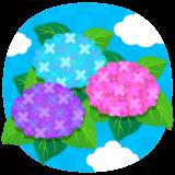 商用フリー・無料イラスト_あじさいの花(紫陽花)紫・ピンク・水色_ajisai18