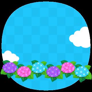 商用フリー・無料イラスト_あじさいの花(紫陽花)紫・ピンク・水色_ajisai19