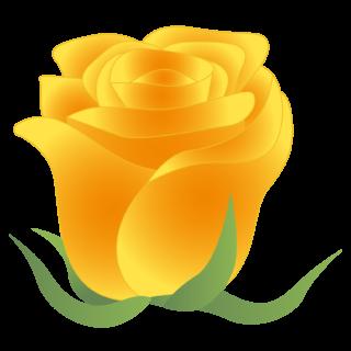 商用フリー・無料イラスト_黄色いバラの花_rose04