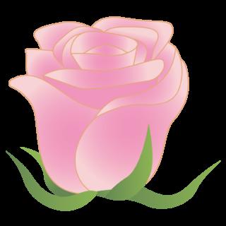 商用フリー・無料イラスト_ピンクのバラの花_rose08