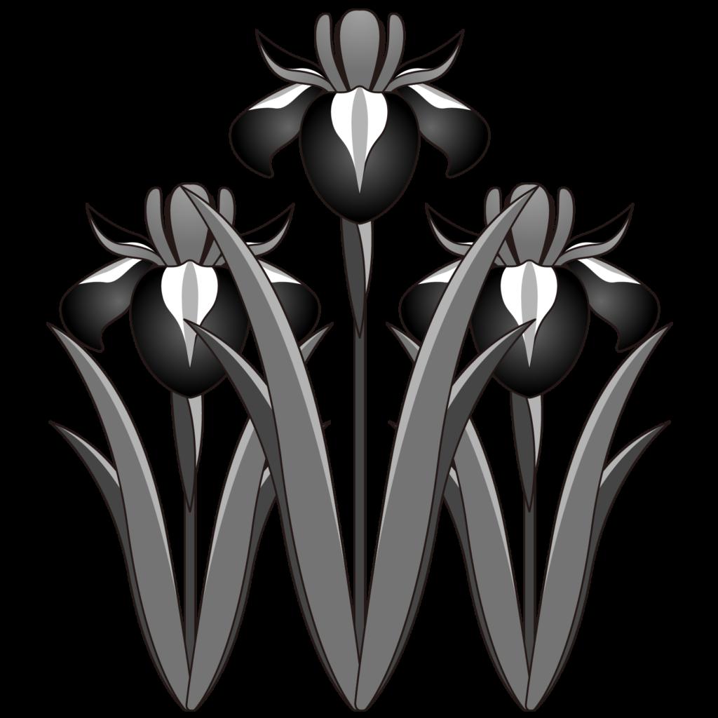商用フリー 無料イラスト 5月端午の節句 菖蒲 しょうぶ あやめ の花 モノクロ Tangonosekku49 商用ok フリー素材集 ナイスな イラスト