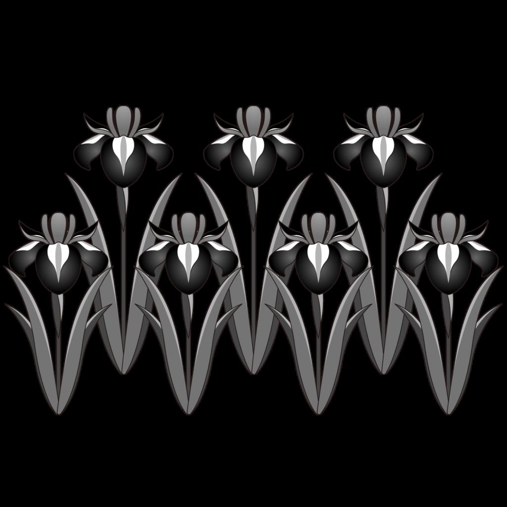 商用フリー 無料イラスト 5月端午の節句 菖蒲 しょうぶ あやめ の花 モノクロ Tangonosekku52 商用ok フリー素材集 ナイスな イラスト