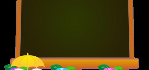 商用フリー・無料イラスト_あじさいの花(紫陽花)イーゼル(キャンバス)黒板_6gatsu06