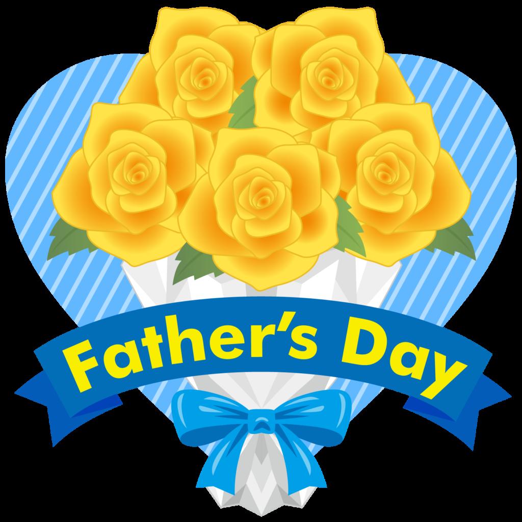 商用フリー・無料イラスト_父の日_黄色いバラの花束_chichinohi023