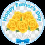 商用フリー・無料イラスト_父の日_黄色いバラの花束_chichinohi024