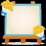 商用フリー・無料イラスト_父の日フレーム・イーゼル_黄色いバラ_chichinohi025