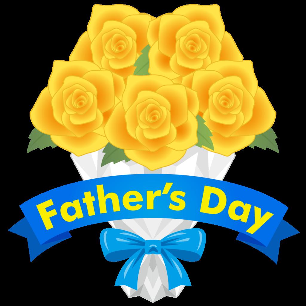 商用フリー・無料イラスト_父の日_黄色いバラの花束_chichinohi031