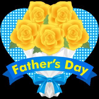 商用フリー・無料イラスト_父の日_黄色いバラの花束_chichinohi032