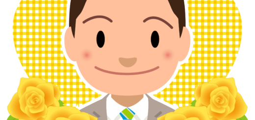 イラスト_6月_父の日_お父さん_男性_黄色バラ_037