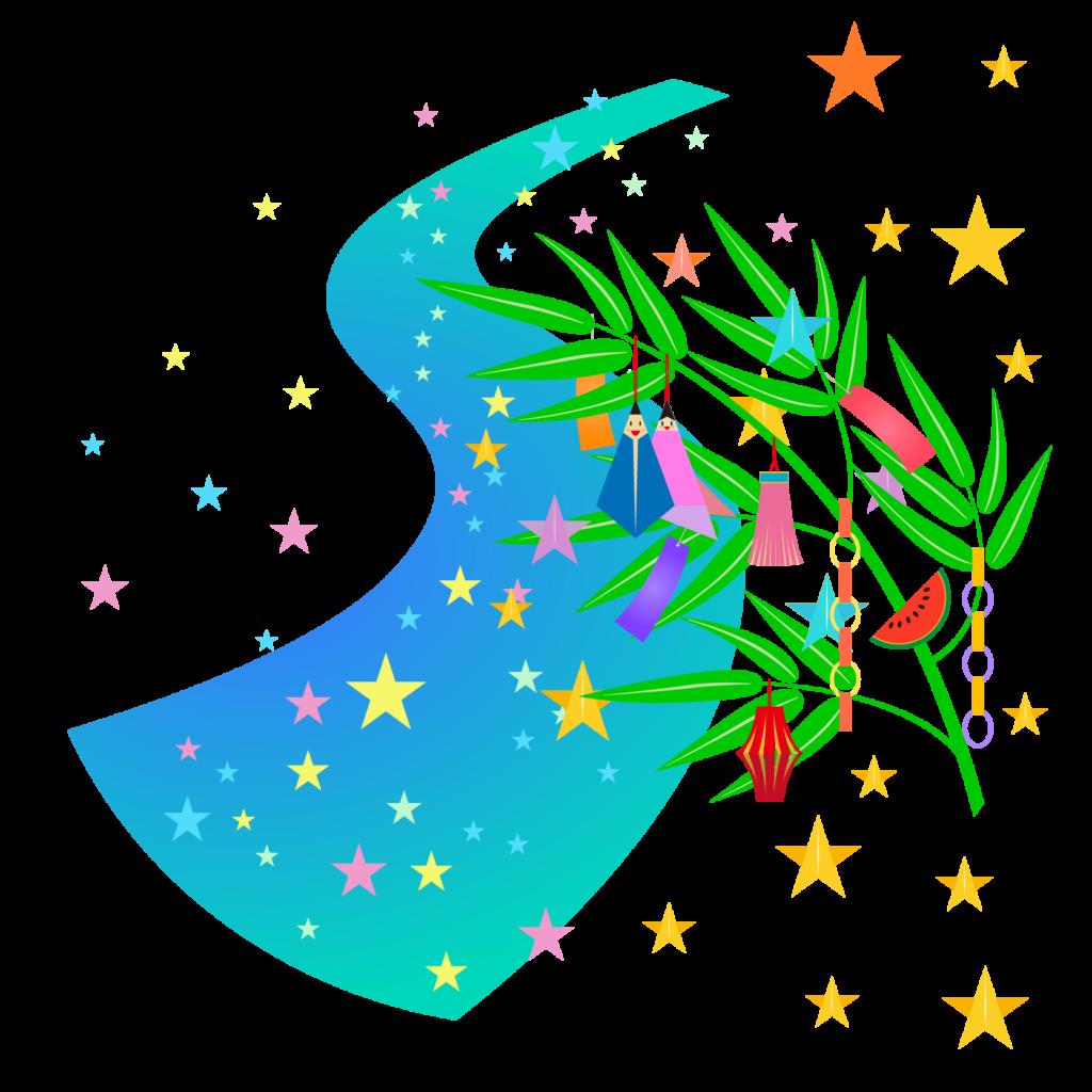 商用フリー・無料イラスト_七夕飾り_短冊_天の川_七月_july_tanabata037
