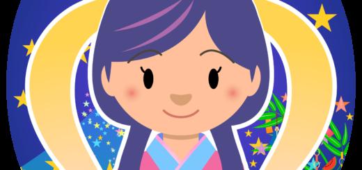 商用フリー・無料イラスト_七夕_織姫(織女)_七月_july_tanabata050