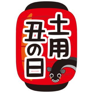 商用フリー無料イラスト_7月_土用丑の日文字_赤提灯(あかちょうちん)_ushinohi39