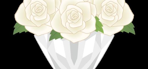 商用フリー・無料イラスト_白色のバラの花束_rose11