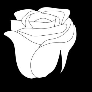 商用フリー・無料イラスト_モノクロのバラの花_rose14