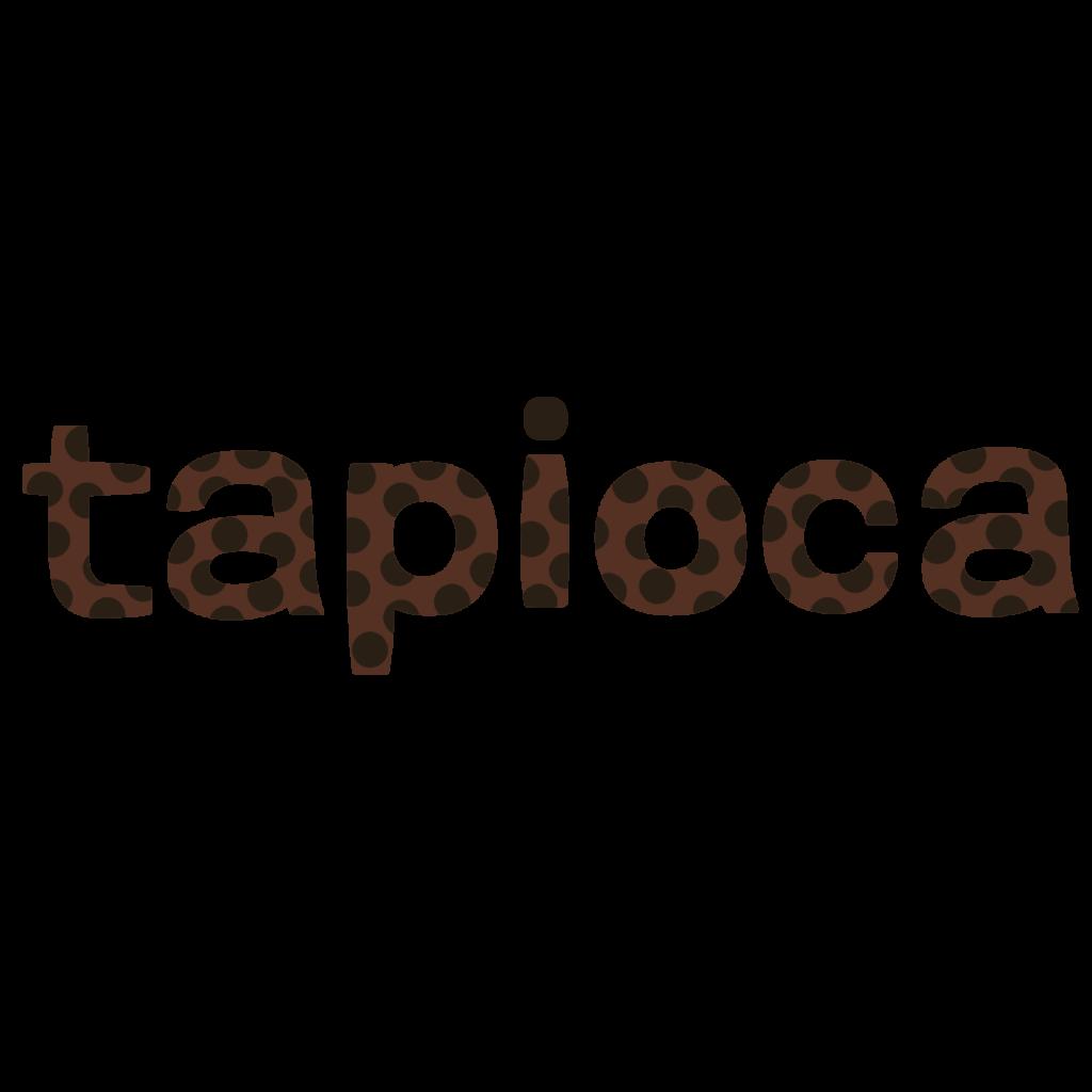 商用フリー・無料イラスト_タピオカの文字_tapioca010