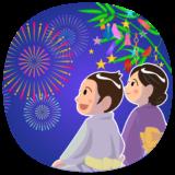 商用フリー・無料イラスト_七夕花火_男女_七月_july_tanabata060