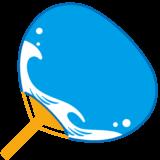 商用フリー・無料イラスト_お祭りうちわ・団扇(水色無地)_uchiwa012