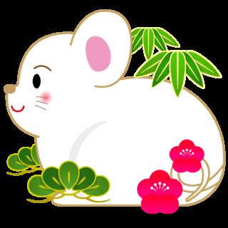 商用フリー・無料イラスト_干支_年賀_子年(鼠/ ねずみどし)_ne002