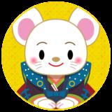 商用フリー・無料イラスト_干支_年賀_子年(鼠・ねどし・ ねずみどし)_ne037