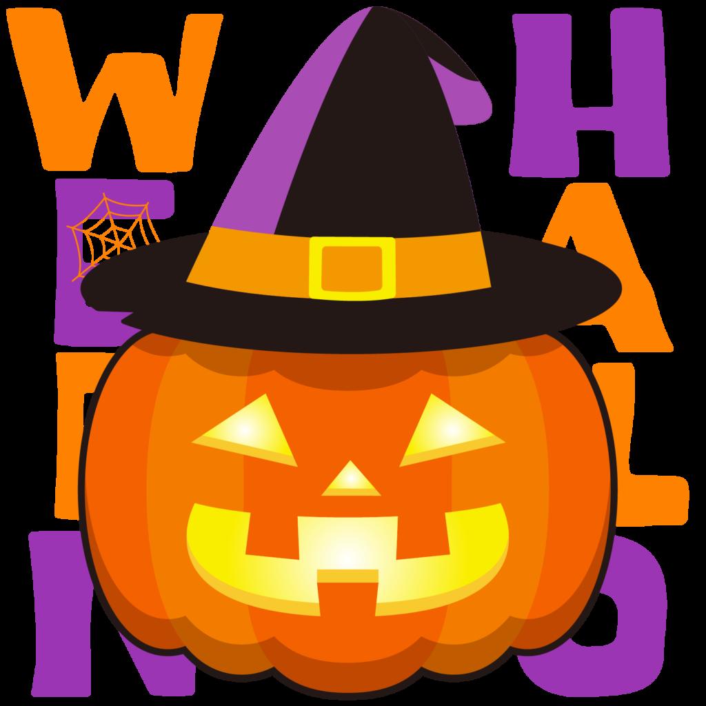 商用フリーイラスト_無料_10月_ハロウィン文字_かぼちゃ_halloween_084
