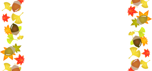 商用フリー・無料イラスト_秋_落ち葉とどんぐりのフレーム_autumn064