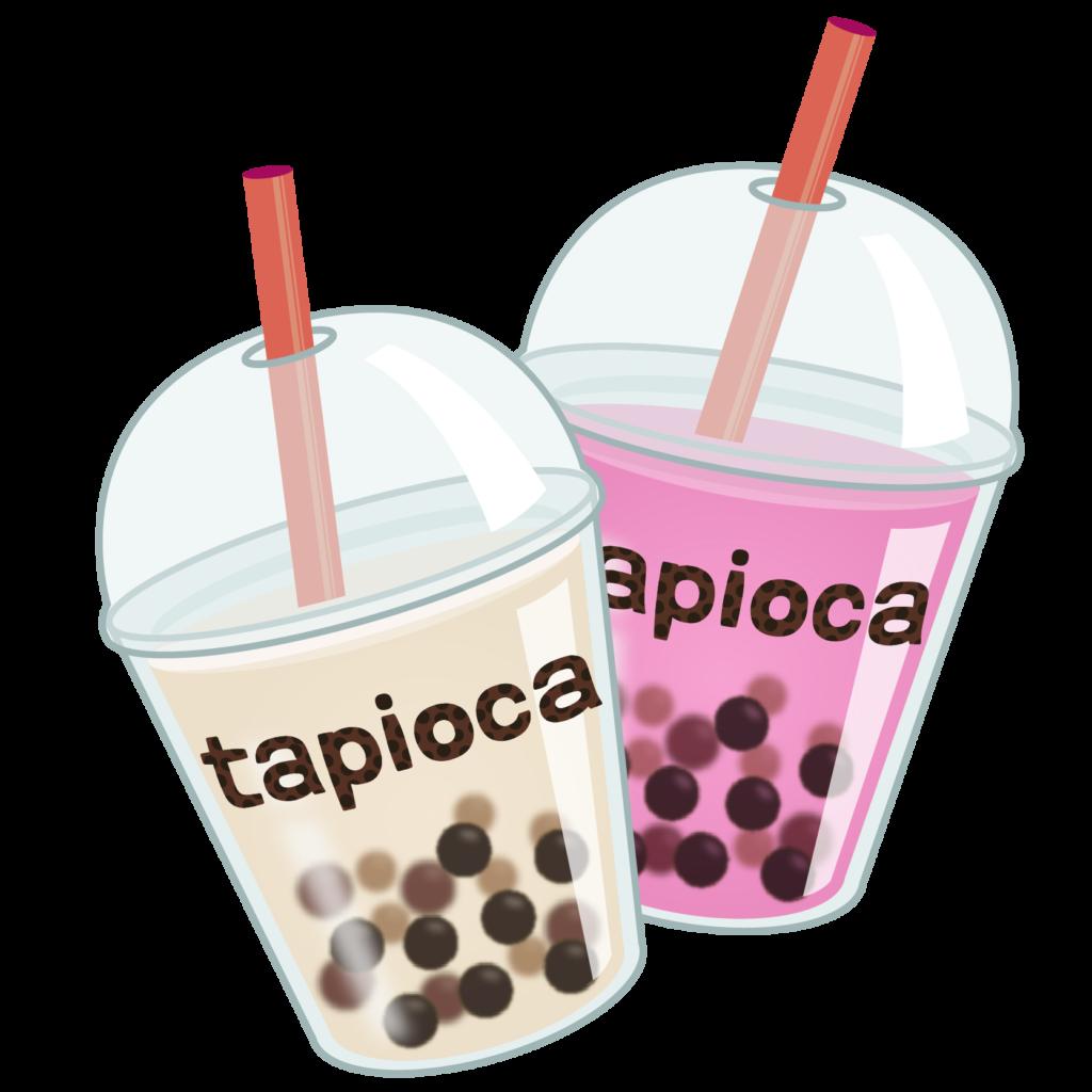商用フリー・無料イラスト_タピオカドリンク_tapioca022
