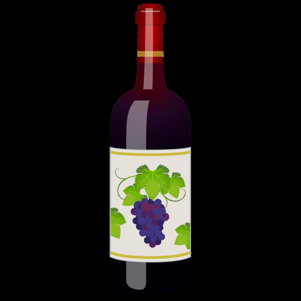 商用フリー無料イラスト_ワインボトル赤_ボルドーBordeaux_Wine001