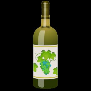 商用フリー無料イラスト_ワインボトル白_ボルドーBordeaux_Wine002