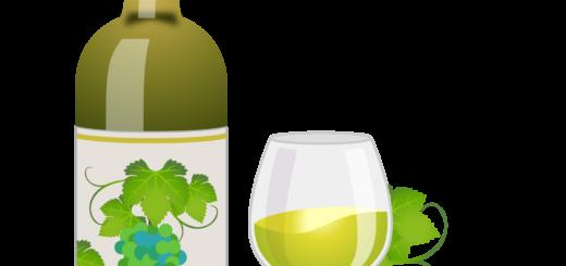 商用フリー無料イラスト_ワインボトル&グラス白_ボルドーBordeaux_Wine008