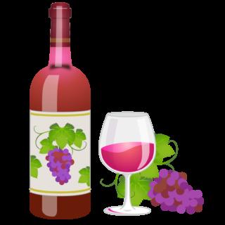 商用フリー無料イラスト_ワインボトル&グラスロゼ_ボルドーBordeaux_Wine009