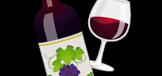 商用フリー無料イラスト_ワインボトル&グラス赤_ボルドーBordeaux_Wine010