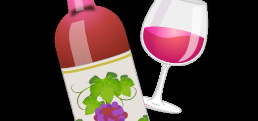 商用フリー無料イラスト_ワインボトル&グラスロゼ_ボルドーBordeaux_Wine012