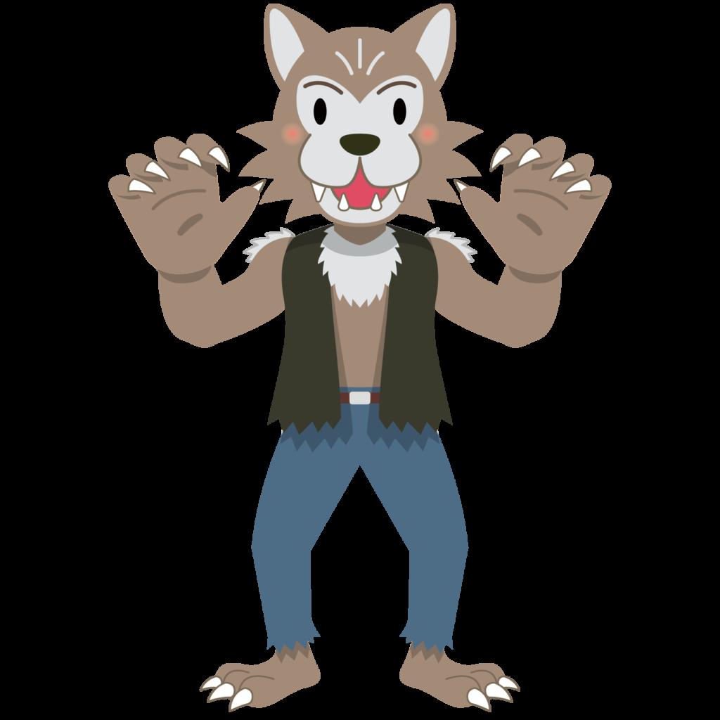 商用フリーイラスト_無料_10月_ハロウィン_狼男(おおかみおとこ)_Wolf Man_halloween002