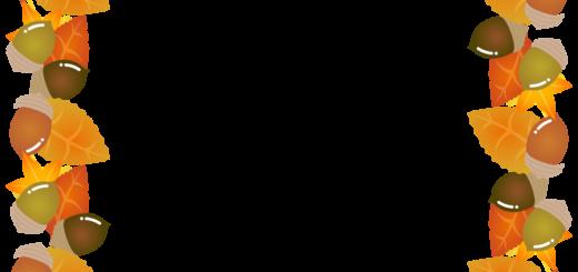 商用フリー・無料イラスト_秋_落ち葉とどんぐりのフレーム_autumn072