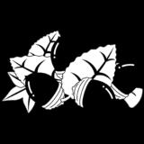 商用フリー・無料イラスト_秋_落ち葉とどんぐり_白黒イラスト_autumn074