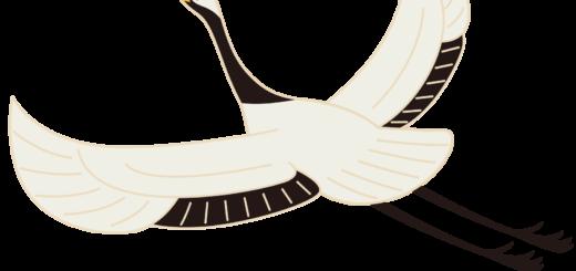商用フリー・無料イラスト_縁起物_鶴/ つる(丹頂鶴)_crane002