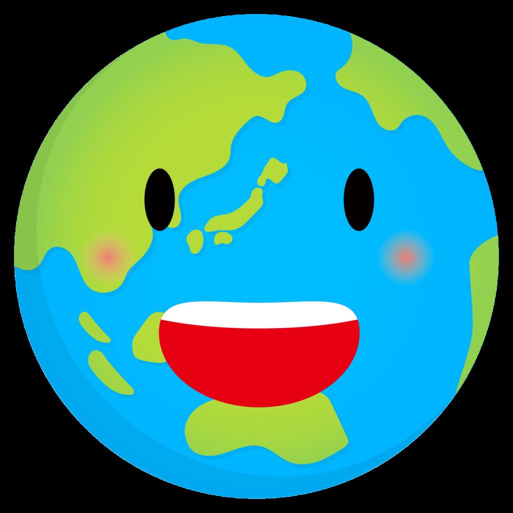 商用フリー・無料イラスト_青い地球_Earth02