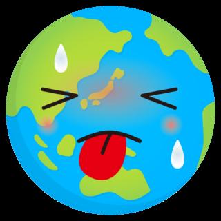 商用フリー・無料イラスト_地球温暖化_Global warming_Earth03