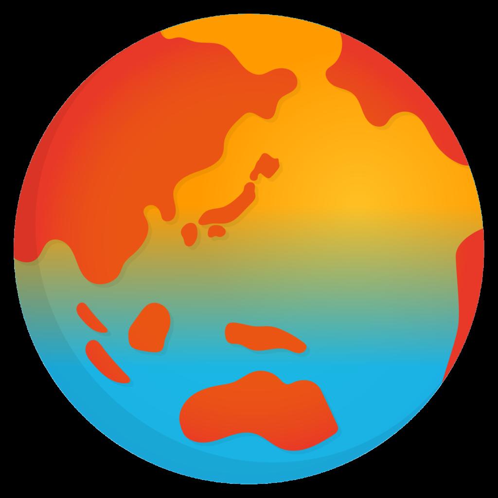 商用フリー・無料イラスト_地球温暖化_Global warming_Earth08