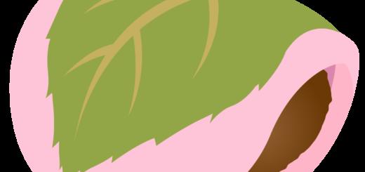 商用フリー・無料イラスト_桜餅(さくらもち)関西風(道明寺)_sakuramochi001
