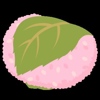 商用フリー・無料イラスト_桜餅(さくらもち)関東風(長命寺)_sakuramochi002