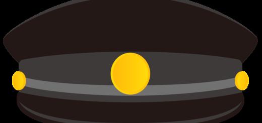商用フリー・無料イラスト_黒い学制帽_Student cap_gakusei001